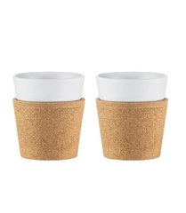 2 pcs mug with Cork Sleeve Bodum 0.17l