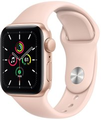 Apple Watch SE 40mm Gold Aluminum Case with Pink Sand Sport Band MYDN2