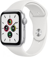 Apple Watch SE 40mm Siver Aluminum Case with White Sport Band MYDM2