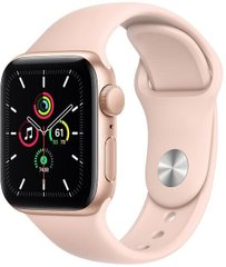 Apple Watch SE 44mm Gold Aluminum Case with Pink Sand Sport Band MYDR2