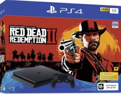 Игровая консоль Sony PlayStation 4, 1TB, Black, Slim + Red Dead Redemption 2