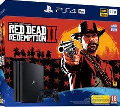 Игровая консоль Sony PlayStation 4, 1 TB, Black, Pro + Red Dead Redemption 2