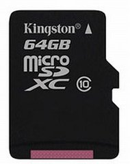 Карта памяти Kingston microSDXC 64GB Class 10