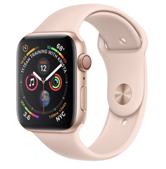 Apple Watch Series 4 GPS + LTE 44mm Gold Aluminum Case with Pink Sand Sport Band MTV02/MTVW2