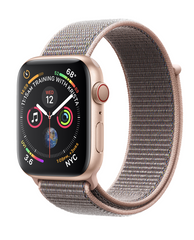 Apple Watch Series 4 GPS + LTE 40mm Gold Aluminum Case with Pink Sand Sport Loop (MTUJ2/MTVG2)