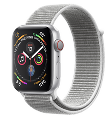 Apple Watch Series 4 GPS + LTE 40mm Silver Aluminum Case with Seashell Sport Loop MTUF2/MTVC2