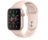 Apple Watch Series 5 40mm Gold Aluminum Case with Pink Sand Sport Band MWV72GK/A