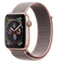 Apple Watch Series 4 GPS 44mm Gold Aluminum Case with Pink Sand Sport Loop MU6G2