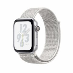 Apple Watch Nike+ Series 4 GPS 40mm Silver Aluminum Case with Summit White Nike Sport Loop (MU7F2)