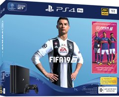 Игровая консоль Sony PlayStation 4, 1 TB, Black, Pro + Fifa 19