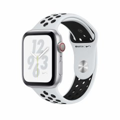 Apple Watch Nike+ Series 4 GPS 44mm Silver Aluminum Case with Pure Platinum/Black Nike Sport Band (MU6K2)