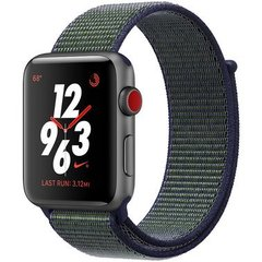 Apple Watch Series 3 Nike+ GPS + LTE 42mm Space Gray Aluminum Case with Midnight Fog Nike Sport Loop (MQLH2)
