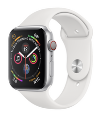 Apple Watch Series 4 GPS + LTE 40mm Silver Aluminum Case with White Sport Band MTUD2/MTVA2